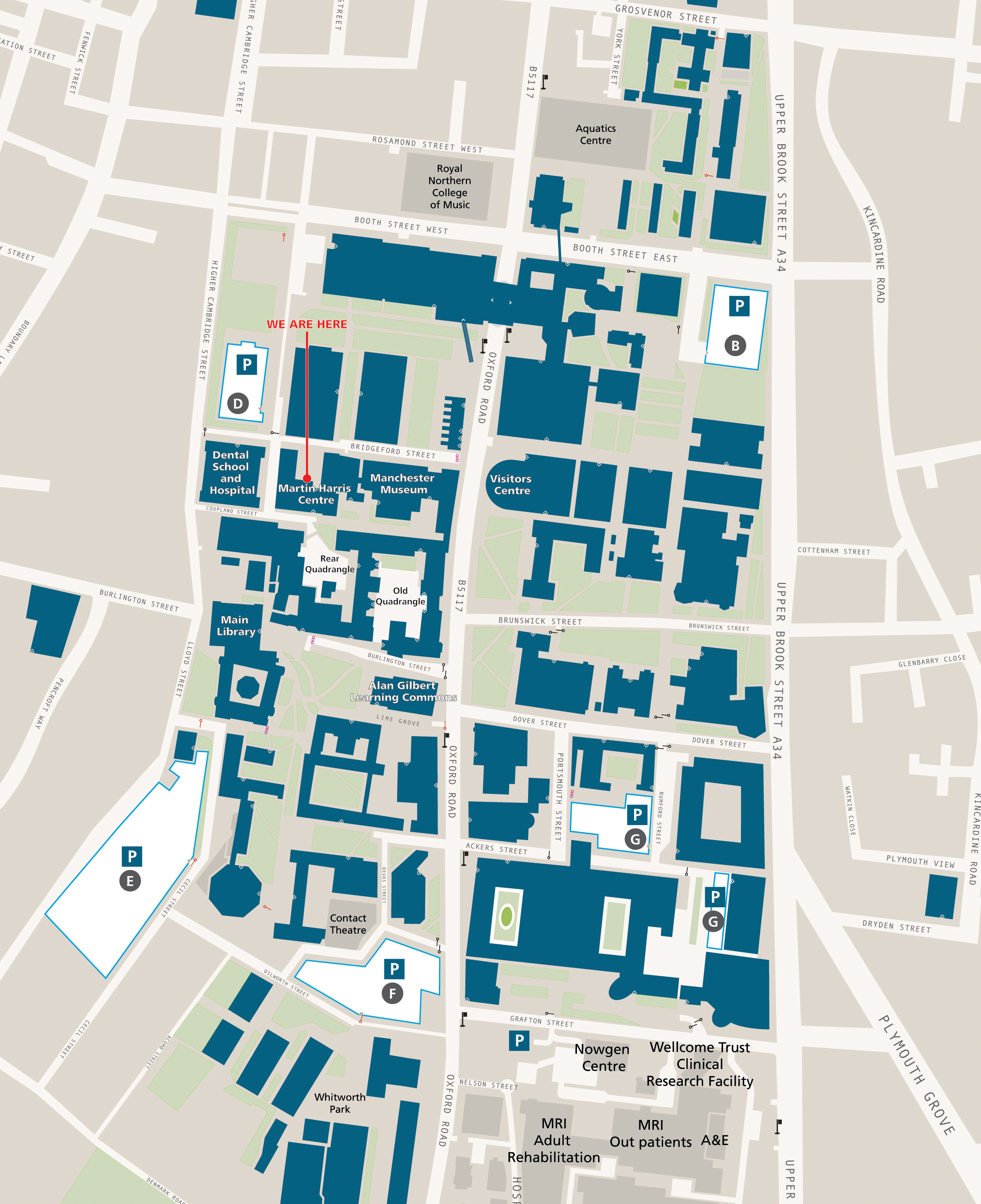 Manchester University Campus Map Manchester University Campus Map | Map Of Us Western States